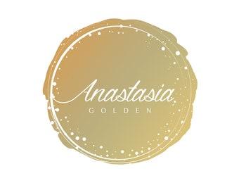 Pre-made Logo, Gold Logo, Pre Made Logo, Logo Kit, Logo Design, Etsy Logo, Shop Logo, Profile Logo, Contemporary Logo,Minimal Logo