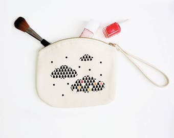 Illustrated zipped pouch Embellie
