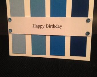 A blue gradient happy birthday card