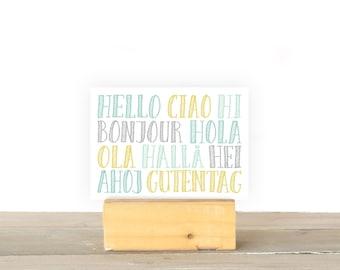 Hello, Ciao, Hi