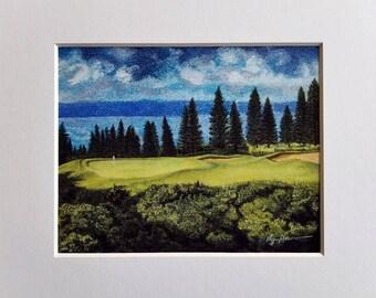 Golf Fine Art - Kapalua Plantation Course 17th hole, Maui, Hawaii