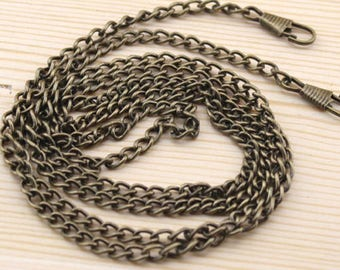 Bronze metal purse chain 60 cm