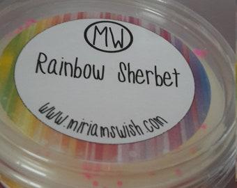 Wax melt tub 4oz Rainbow Sherbet