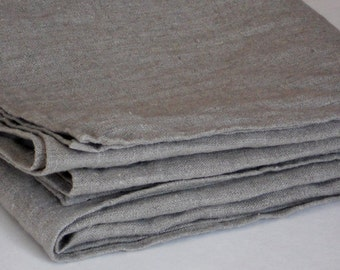 Linen bath towel, rustic washed natural gray wrinkled organic flax burlap bath sheet, vintage look spa towel, beach towel