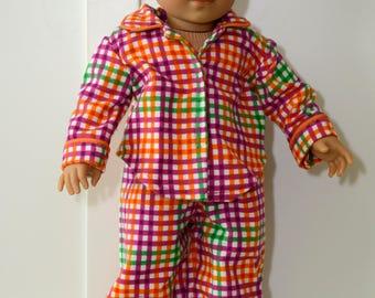 Flannel Pajama and Robe Set