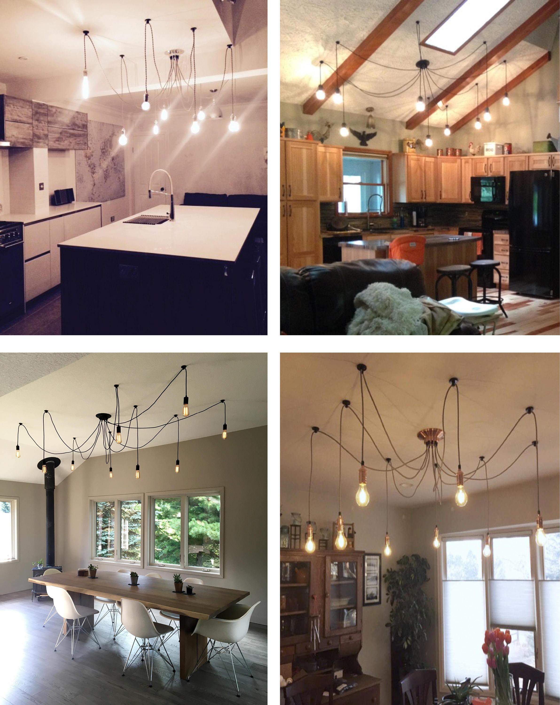 Moderne Anhänger Licht Küche Insel Kronleuchter 9 Licht