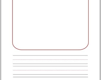 Primary Lined writing papers   for kids practicing writing, pre k, homeschool ...