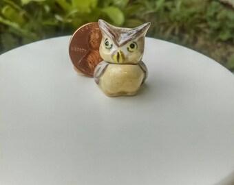 Dollhouse Miniature One Inch Scale 1:12 Owl Cookie Jar