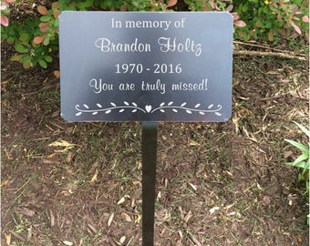 garden markers, memorial plaque, metal plaques, name plates, name tag, memorial tree, name marker, Metal tags, Plant ID markers, markers