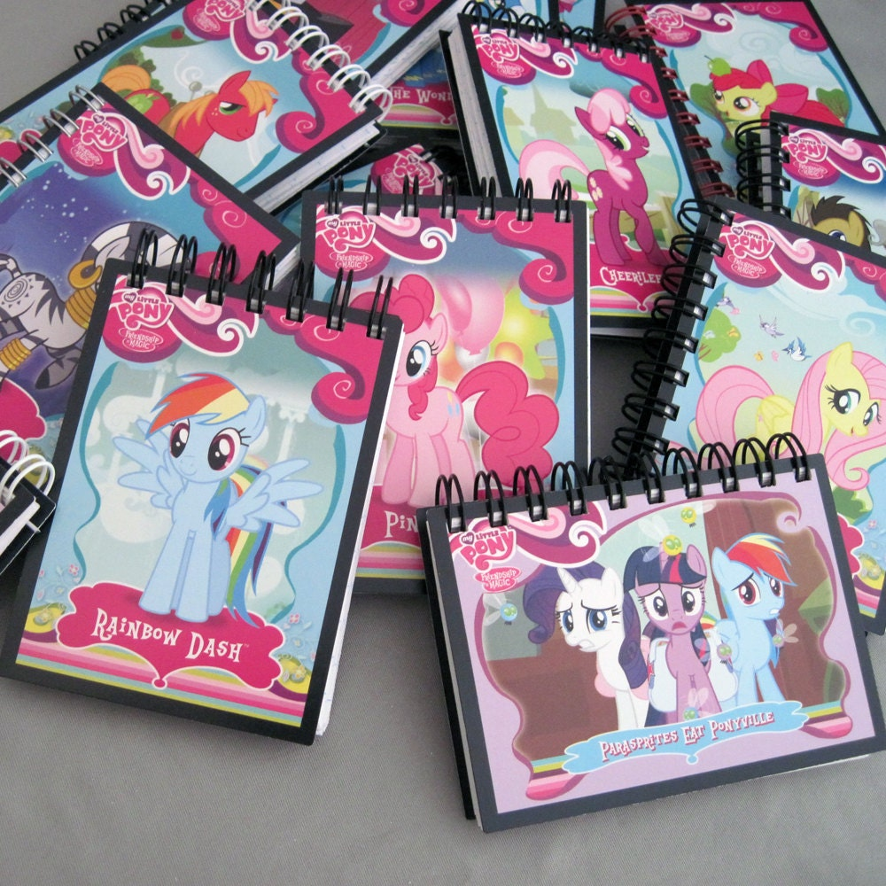 My little pony mini notebook recycled trading cards zoom arubaitofo Image collections