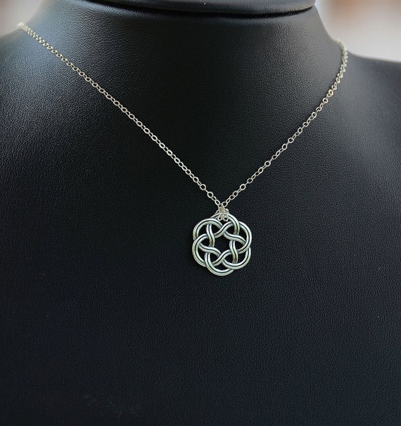 necklace triquetra topaz knot pendant necklaces trinity pendants celtic blue cross collections