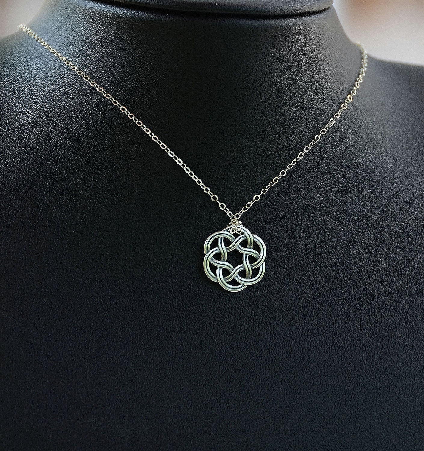 All sterling silver celtic necklace celtic jewelry celtic zoom mozeypictures Image collections