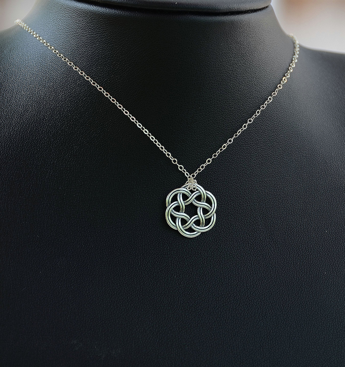 All sterling silver celtic necklace celtic jewelry celtic zoom biocorpaavc