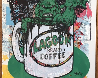 Creature from the Black Lagoon Coffee one of a kind testprint