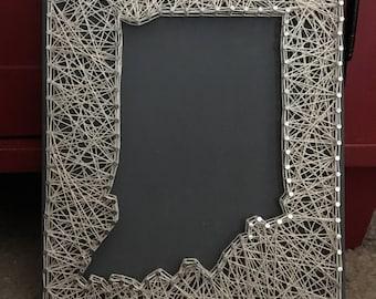 State string art, reversed string art