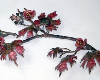 Copper Bird on a Branch