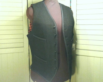 Ralph Lauren Wool Blend Vest Black Satin Belted Red Check Cotton Denim & Supply Antique Waistcoat 49er NWT Mens Womens Size S Small Petite