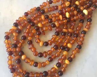 Vintage Statement Multiple Strand  Amber Necklace