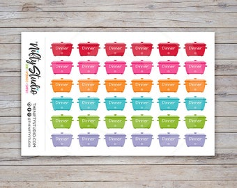 Crockpot Stickers   Meal Planning Stickers   Planner Stickers   The Nifty Studio [113]