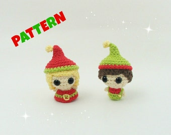 Christmas Elves Pattern / Crochet Doll Pattern / Black Friday / Christmas Pattern / Crochet Christmas Pattern / Kids Pattern / Baby Patterns
