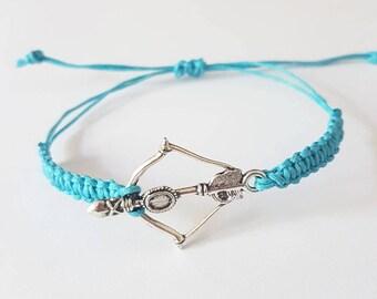 bow and arrow braid bracelet