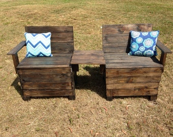 Patio bench, wooden bench