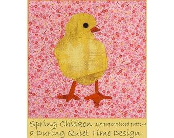 Spring Chicken Paper Pieced Pattern