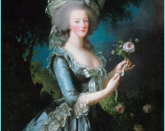 antique french illustration Marie Antoinette queen of France DIGITAL DOWNLOAD