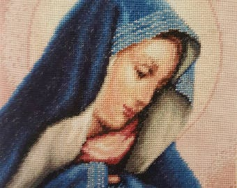Madonna Dolorosa high quality hand made  needlepoint gobelin tapestry embroidery