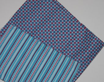set of 2 fabrics blue tone