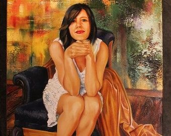 Contemporary Painting, Oil Painting Woman Art, Portrait