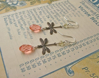 Garden earrings in rose peach/citrus