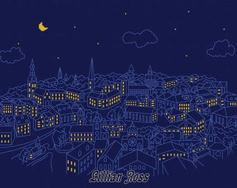 Cross stitch pattern - Night town