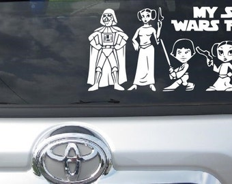 Star Wars Car Decal Etsy - Star wars car decals