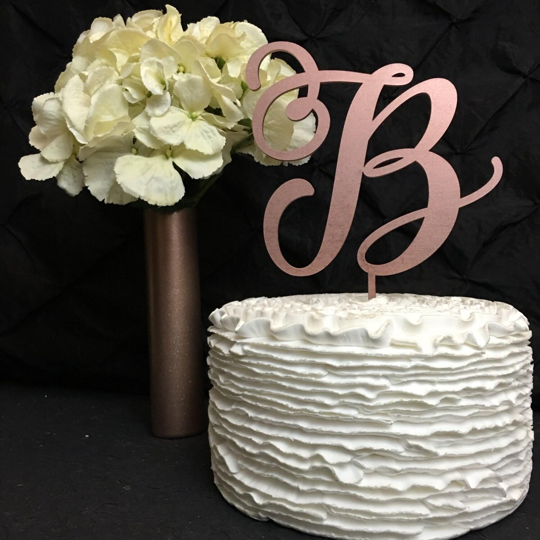 Monogram Cake Topper Letter Cake Topper Wedding Cake Topper