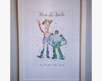Personalised Print - My Brother, My Friend.