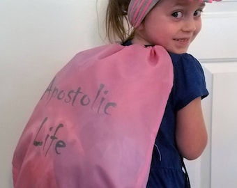 Apostolic Life Drawstring Backpack