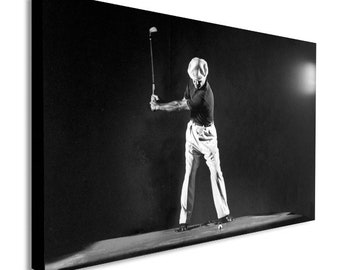 Ben Hogan - Iconic Golfer - Canvas Wall Art Framed Print  - Various sizes