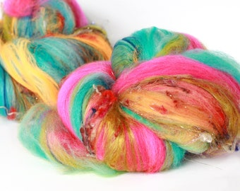 RIO 4 oz  Wool - Merino // Art Batt // Wool Art Batt for spinning or needle felting