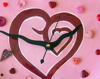 I Love Hearts Clock FREE US Shipping