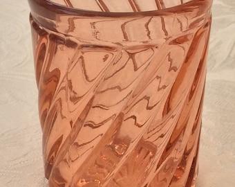 Vintage Bayel Crystal Beaker, pink , circa 1920's