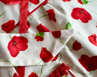 Pretty Poppy Apron