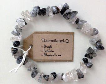 Tourmilated Quartz Gemstone Bracelet