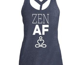 Zen AF Cosmic Twist Back Tank
