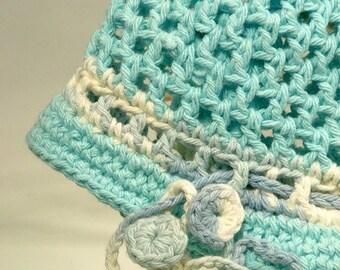 Toddler Baby Bucket Cotton Sun Hat Brim Spring Robin Egg Blue Green