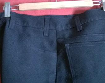 Vintage 90s Pants Sta Prest Navy Blue pants 33 34 mens trousers LEVIS bootCut MEns Trousers VINTAGE 90s LEVis Trousers Navy Blue