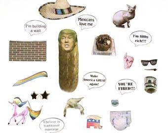 Dress President Donald Trump's Pickle Refrigerator Magnet Set