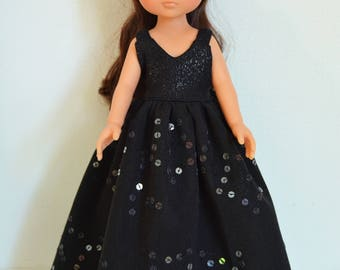 "Handmade Doll Clothes Dress Gown fits 13"" Corolle Les Cheries Dolls Handcraft A"