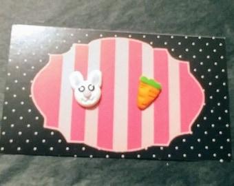Earrings rabbit and carrot
