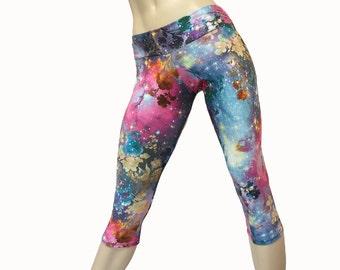 Yoga Pants - Workout Clothes - Hot Yoga - Yoga Crops - Rainbow - Fitness - Low Rise - Capri - Plus Size Workout - SXY Fitness - USA -